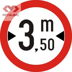 Accesul interzis vehiculelor având o lăţime mai mare de ... m, C16
