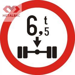 Accesul interzis vehiculelor cu masa mai mare de ... t pe osia simplă, C19
