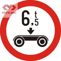 Accesul interzis vehiculelor cu masa pe osia dublă mai mare de ... t, C20
