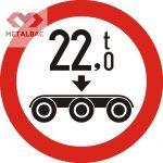 Accesul interzis vehiculelor cu masa pe osia triplă mai mare de ... t, C21