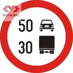 Limitare de viteză diferenţiată pe categorii de vehicule, C30