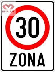 Zonă cu viteză limitată la 30 km/h, C44