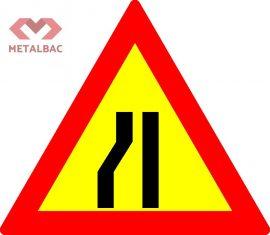 Drum ingustat pe partea stanga/dreapta, U2, U3